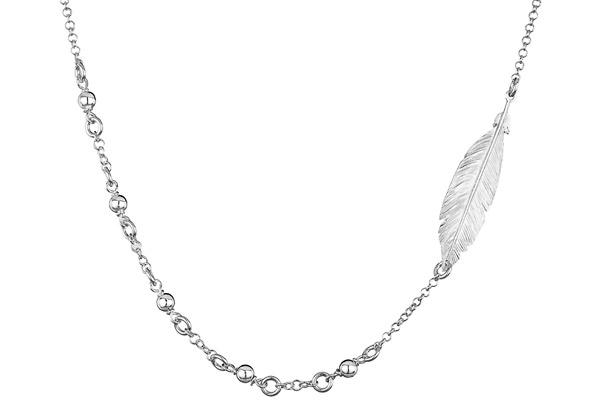 bijoux plume argent