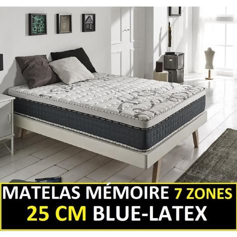 blue latex 25 cm de naturalex confort ferme