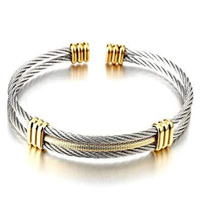 bracelet acier inoxydable femme