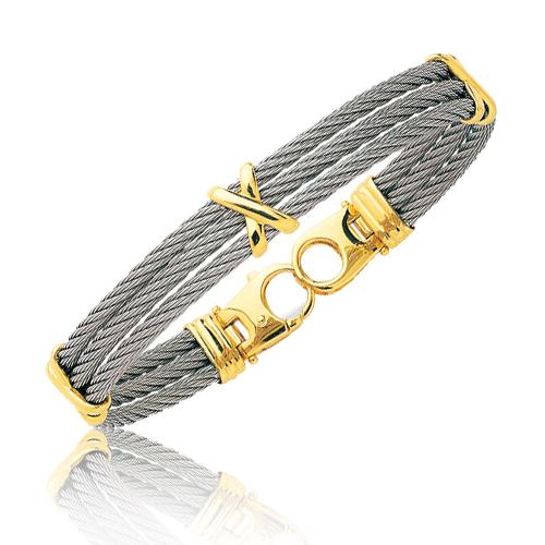 bracelet acier or homme