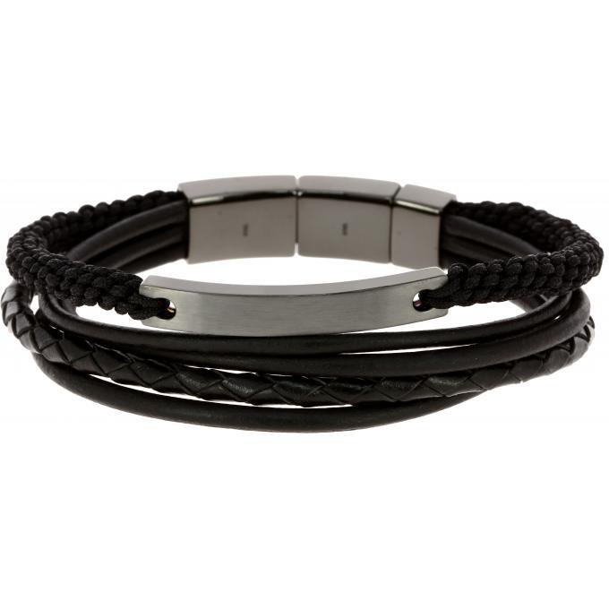 bracelet homme cuir fossil