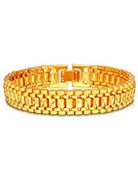 bracelet homme plaqué or