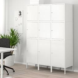 bureau avec rangement ikea