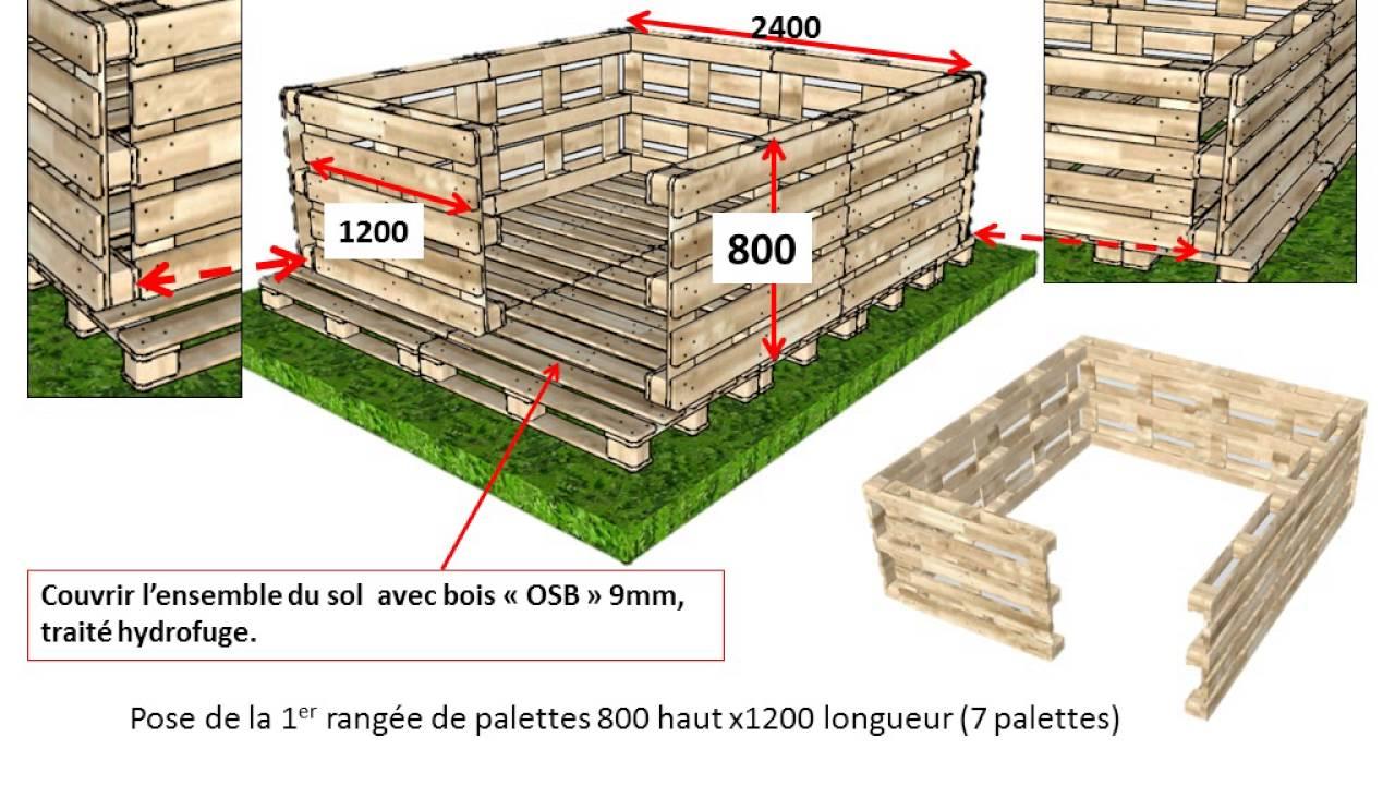 cabane de jardin en palette