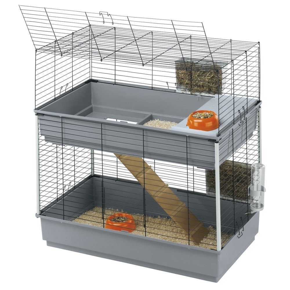 cage double pour lapin
