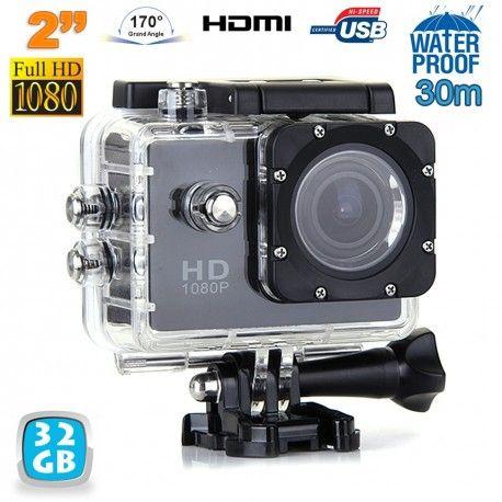 caméra sport full hd 1080p grand angle étanche