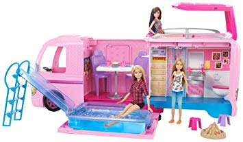 camping car barbie avec piscine