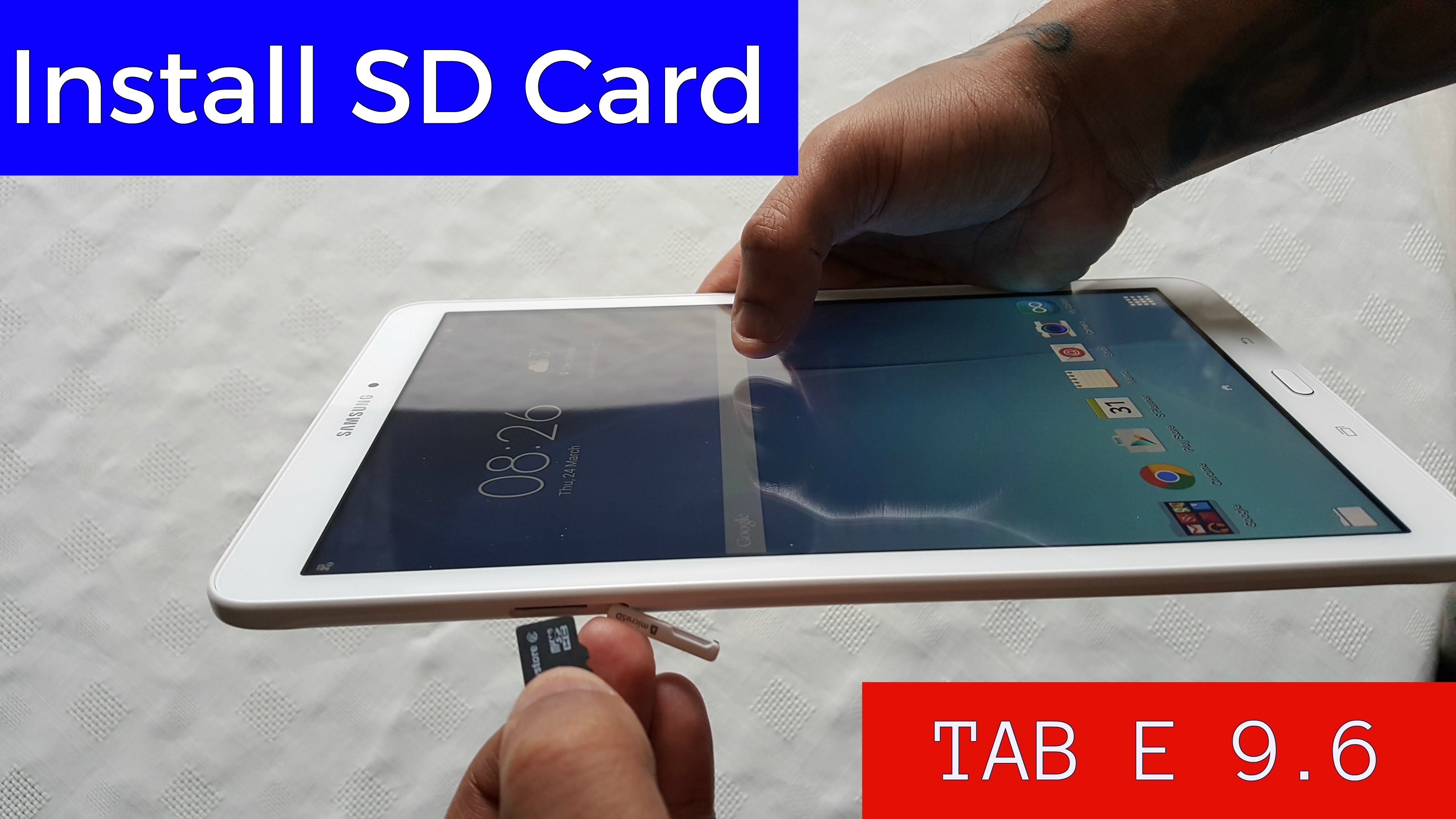 carte sd sur tablette samsung