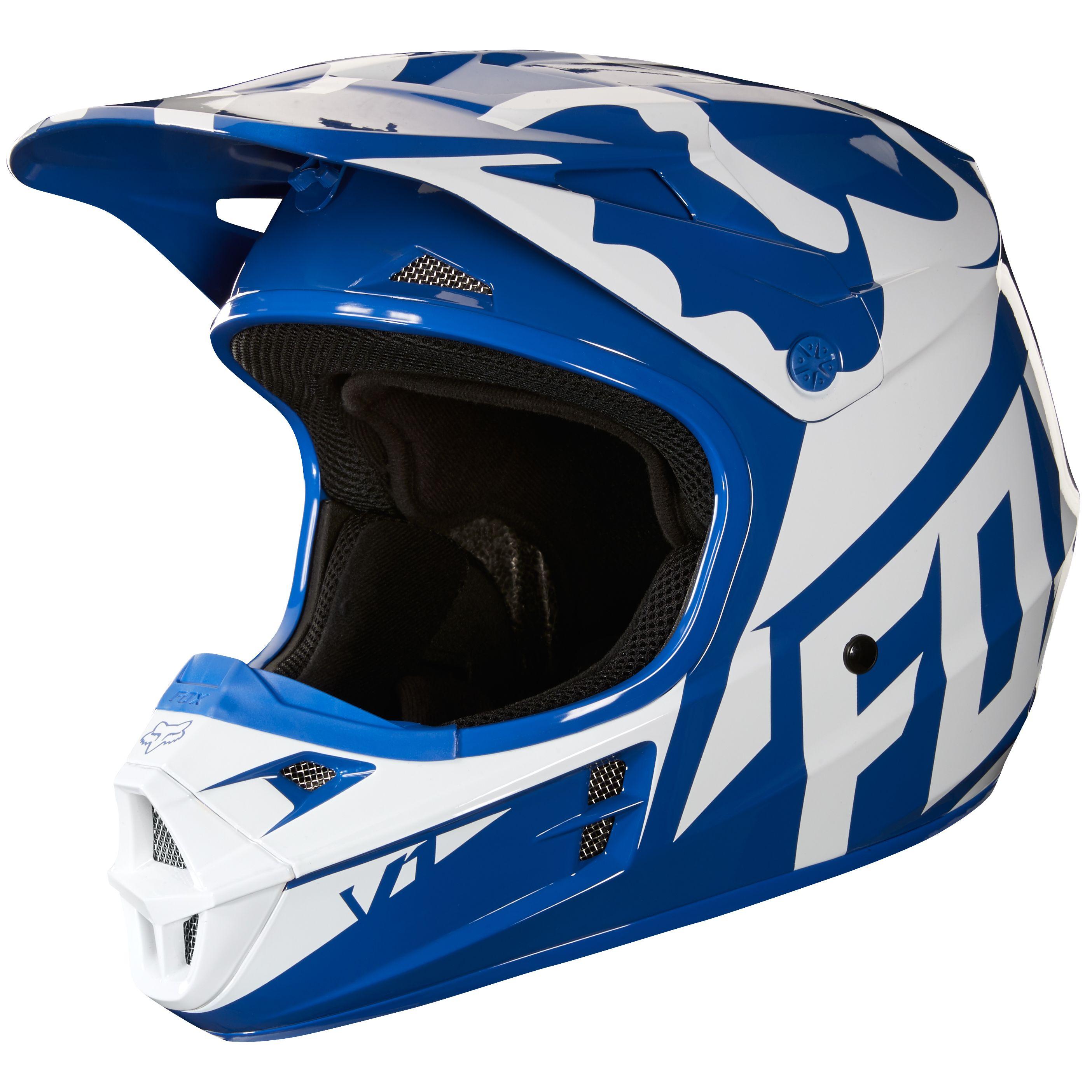 casque moto cross bleu