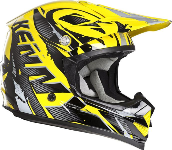 casque moto cross jaune