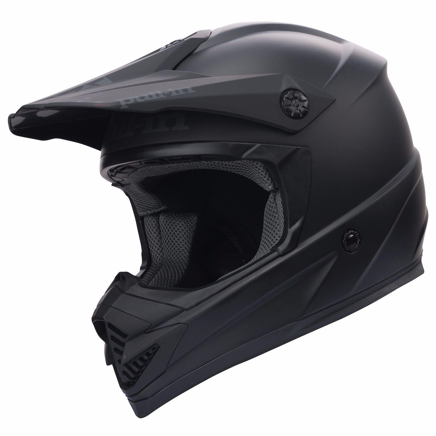 casque moto cross noir