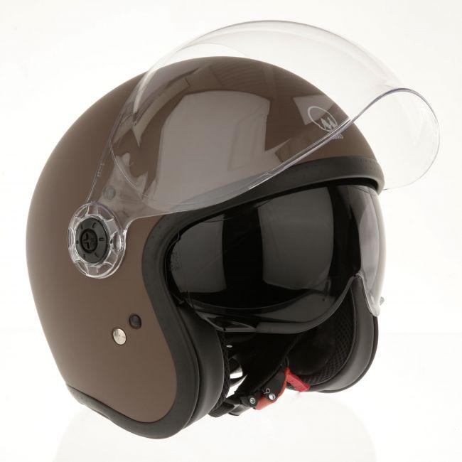 casque moto marron