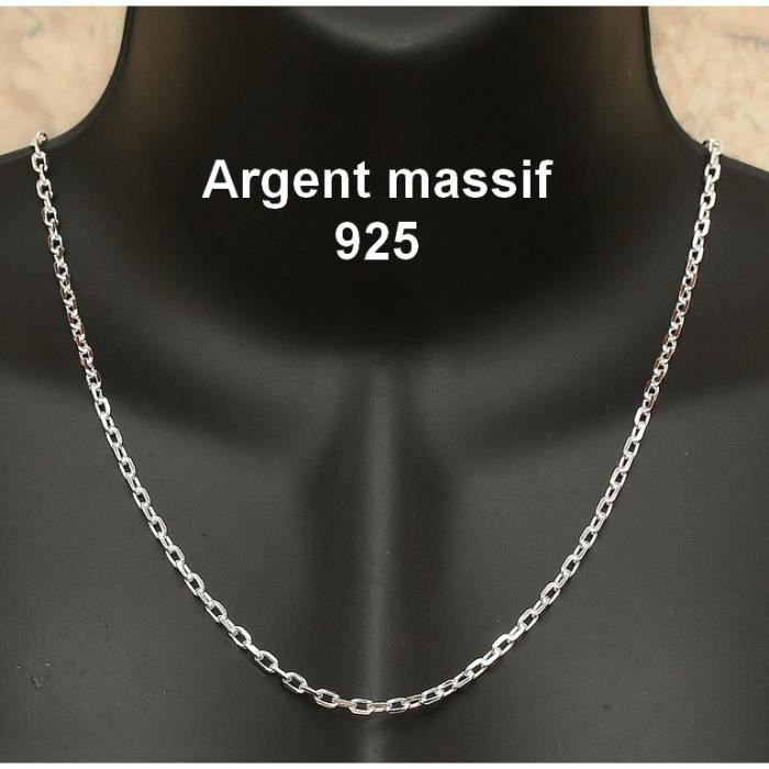 chaine argent homme maille forcat