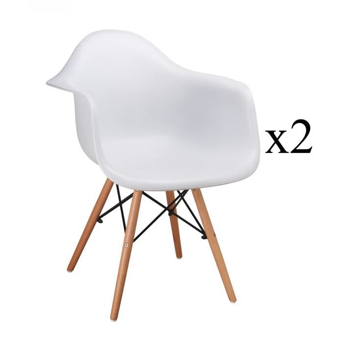 chaise avec accoudoir scandinave