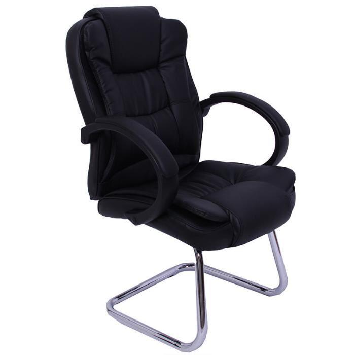 chaise de bureau sans roulettes pas cher