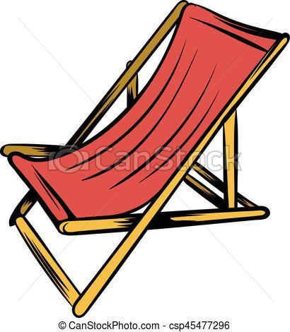 chaise longue plage dessin