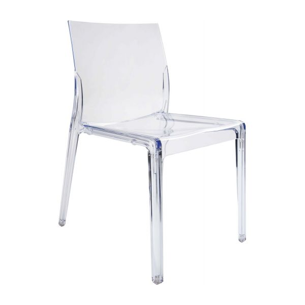 chaise plastique transparent