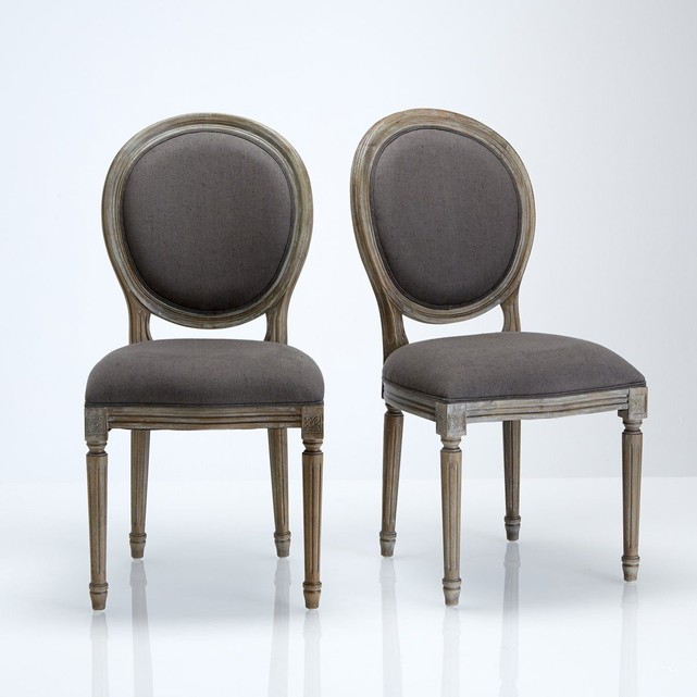 chaises medaillons