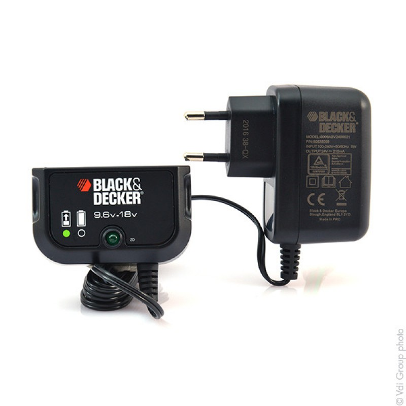 chargeur batterie black et decker 18v