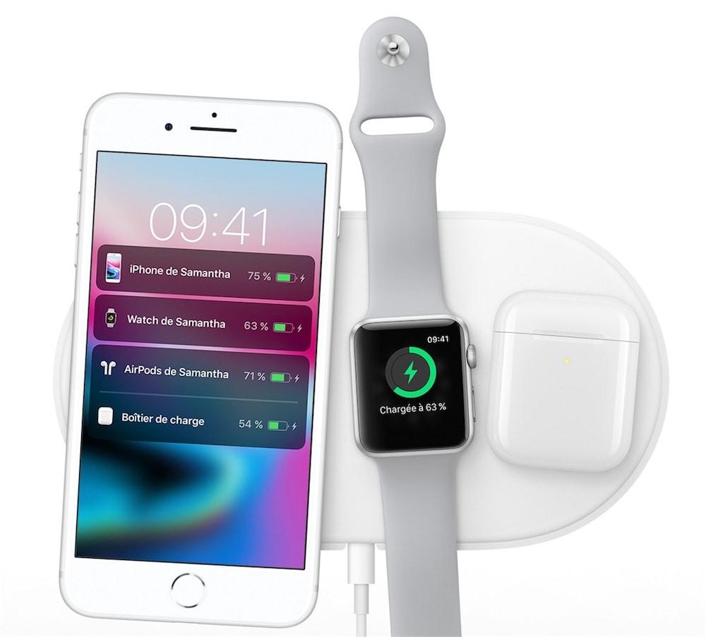 chargeur sans fil apple