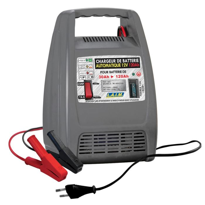 chargeur voiture batterie