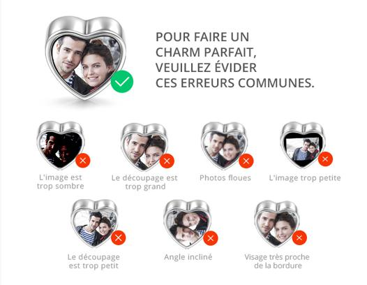 charms avec photo