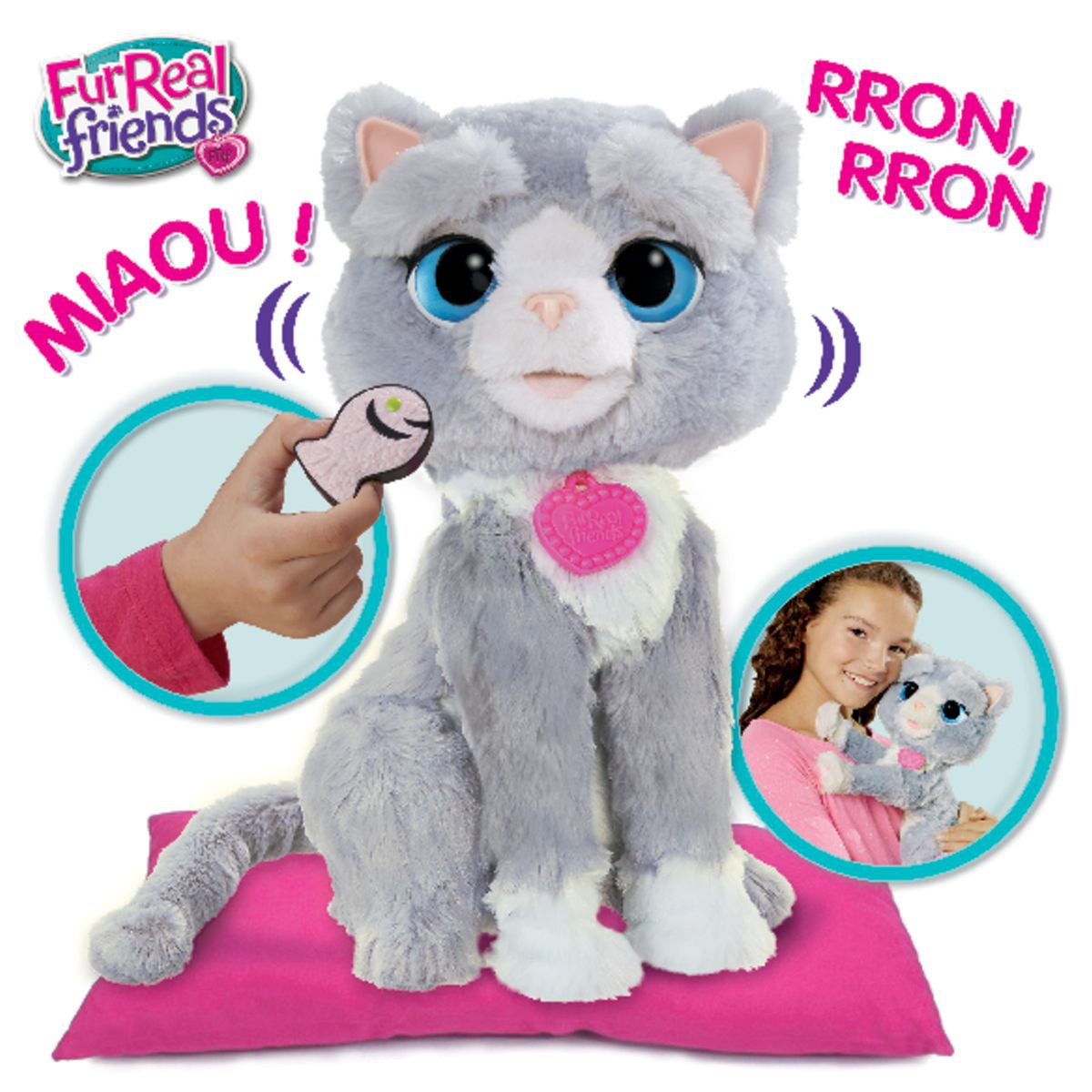 chat peluche interactif