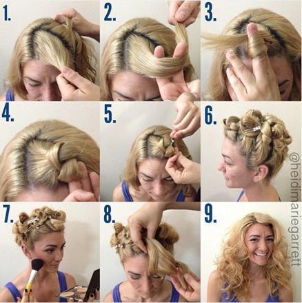 cheveux bouclés sans fer