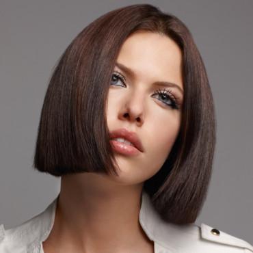 cheveux court lisse