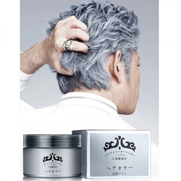 cire cheveux argenté