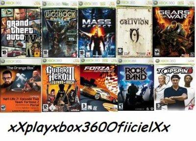 classement jeux xbox 360
