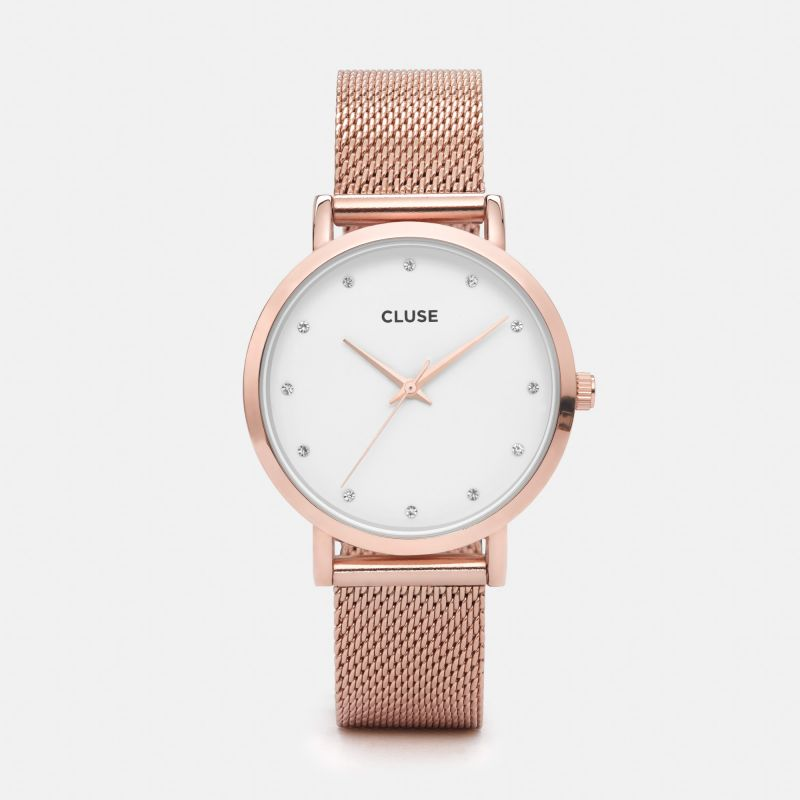 cluse montre rose