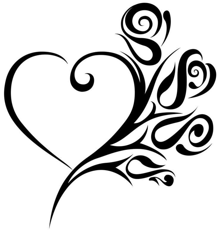 coeur tribal tatouage