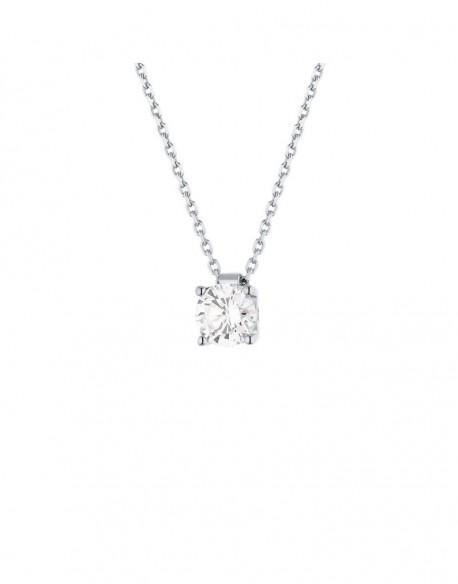 collier diamant solitaire pas cher