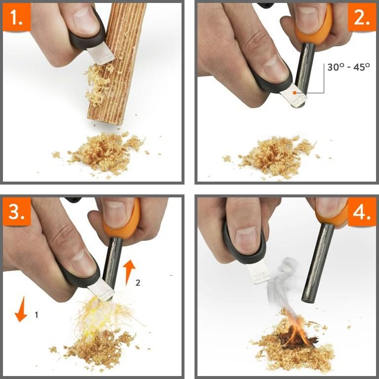 comment utiliser une pierre à feu