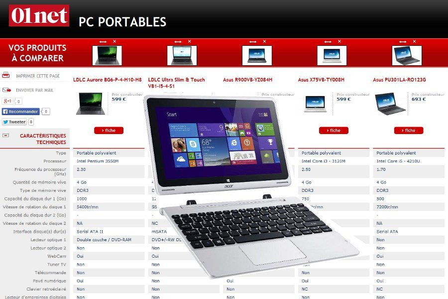 comparateur de pc