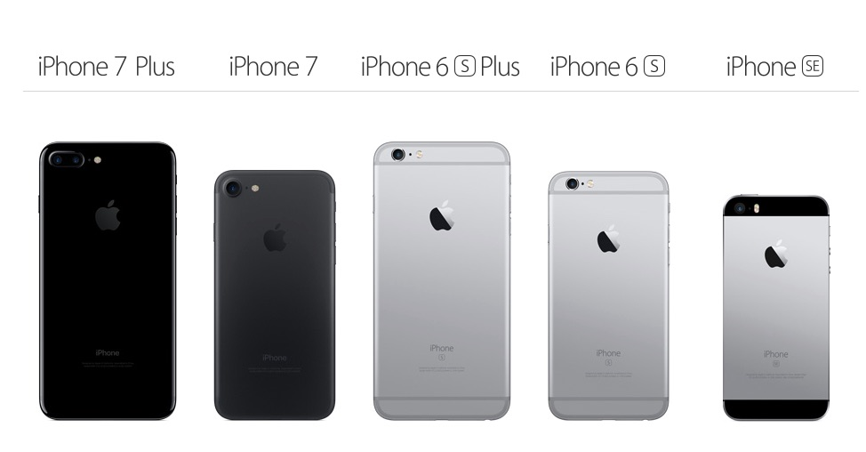 comparer iphone 6s et 7