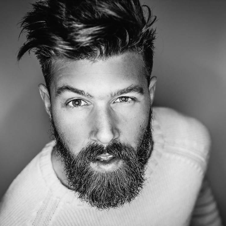 coupe de cheveux avec barbe