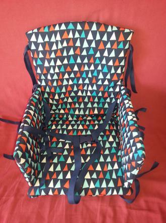 coussin chaise haute avec harnais