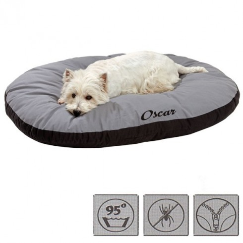 coussin chien ovale