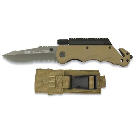 couteau de survie pliant avec allume feu