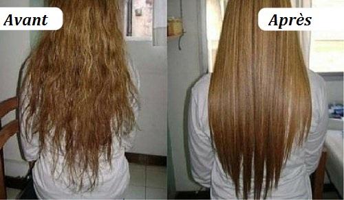 crème pour lisser les cheveux