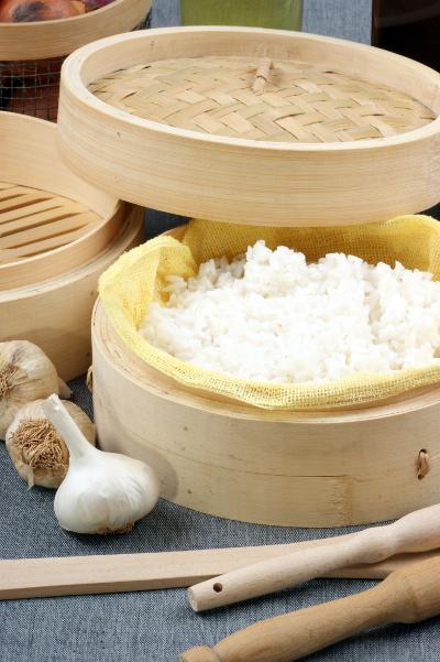 cuisson du riz au cuit vapeur