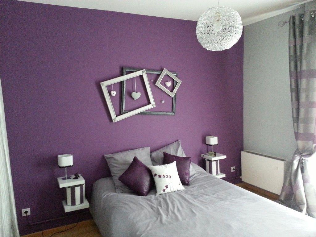 deco chambre violet et gris