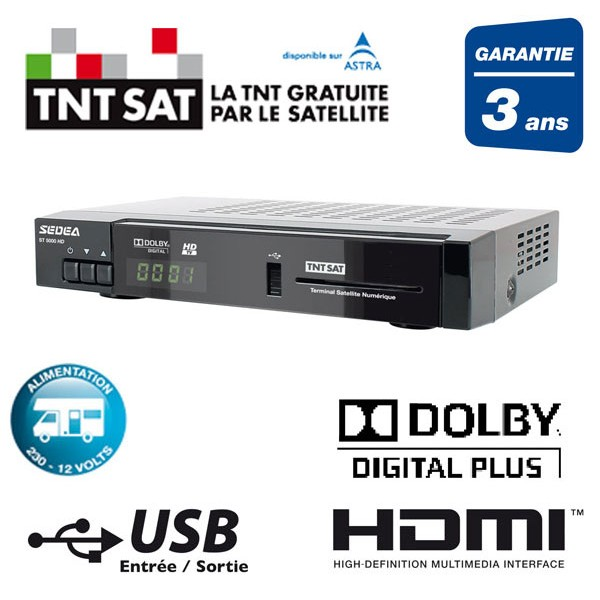 decodeur satellite hd canal ready