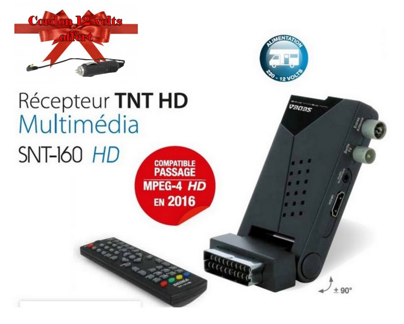 decodeur tnt hd 12 volts