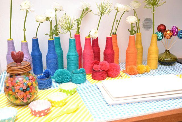 decoration anniversaire multicolore