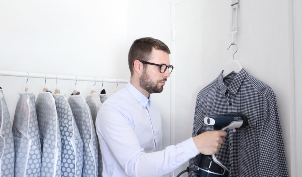 defroisseur chemise vapeur