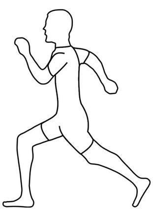 dessin d un homme qui court