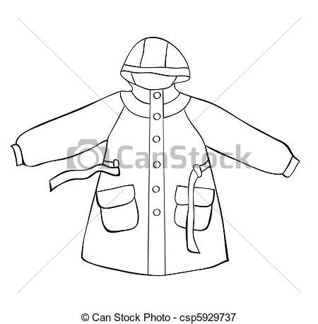 dessin manteau de pluie